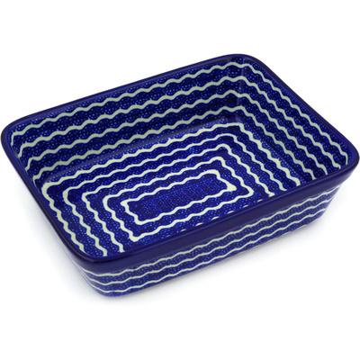 Polish Pottery 10-inch Rectangular Baker | Boleslawiec Stoneware | Polmedia H8640D