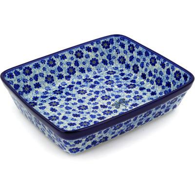 Polish Pottery 11-inch Rectangular Baker | Boleslawiec Stoneware | Polmedia H4146D