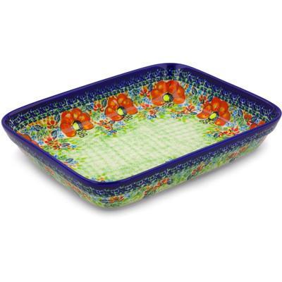 Polish Pottery 10-inch Rectangular Baker | Boleslawiec Stoneware | Polmedia H4323I