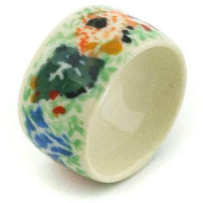 Polish Pottery 1-inch Ring | Boleslawiec Stoneware | Polmedia H2505H