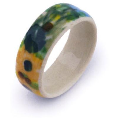 Polish Pottery 1-inch Ring | Boleslawiec Stoneware | Polmedia H6316G