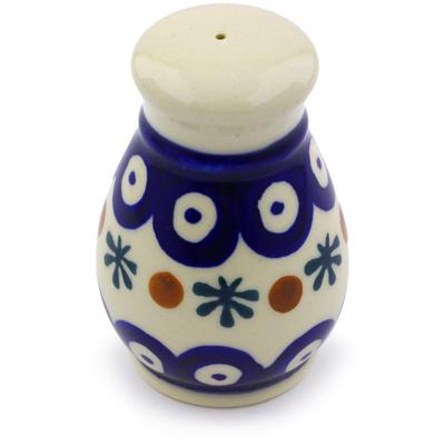Polish Pottery 3-inch Salt Shaker   Boleslawiec Stoneware   Polmedia H7099I