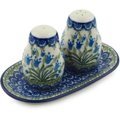 Polish Pottery 7-inch Salt and Pepper Set | Boleslawiec Stoneware | Polmedia H4634I