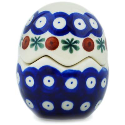 Polish Pottery 3-inch Salt and Pepper Set | Boleslawiec Stoneware | Polmedia H0964I