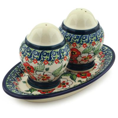 Polish Pottery 7-inch Salt and Pepper Set | Boleslawiec Stoneware | Polmedia H4865I