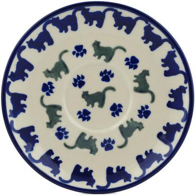 Polish Pottery 5-inch Saucer | Boleslawiec Stoneware | Polmedia H1890G