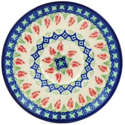 Polish Pottery 5-inch Saucer | Boleslawiec Stoneware | Polmedia H9913H