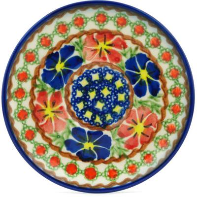 Polish Pottery 5-inch Saucer | Boleslawiec Stoneware | Polmedia H0522H