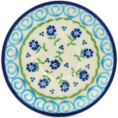 Polish Pottery 5-inch Saucer   Boleslawiec Stoneware   Polmedia H9228H