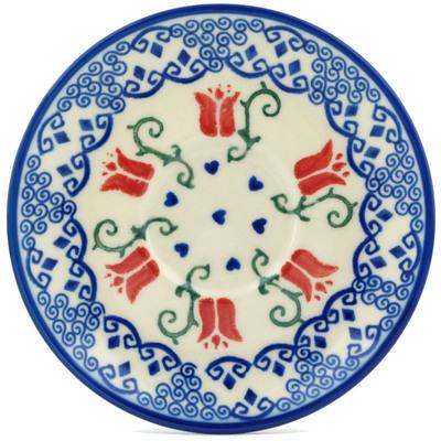 Polish Pottery 5-inch Saucer | Boleslawiec Stoneware | Polmedia H7220G