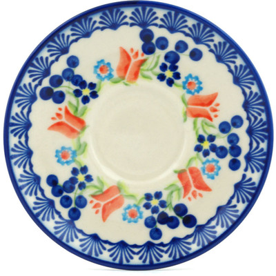 Polish Pottery 5-inch Saucer | Boleslawiec Stoneware | Polmedia H9946H