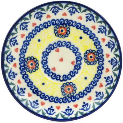 Polish Pottery 5-inch Saucer | Boleslawiec Stoneware | Polmedia H9880H