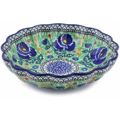 Polish Pottery 7-inch Scalloped Bowl | Boleslawiec Stoneware | Polmedia H0002B