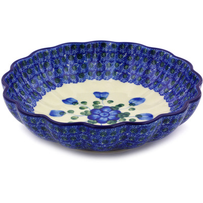 Polish Pottery 7-inch Scalloped Bowl | Boleslawiec Stoneware | Polmedia H4451A
