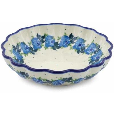 Polish Pottery 7-inch Scalloped Bowl | Boleslawiec Stoneware | Polmedia H0496J