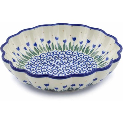 Polish Pottery 7-inch Scalloped Bowl | Boleslawiec Stoneware | Polmedia H0385J