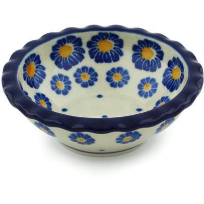 Polish Pottery 3-inch Scalloped Bowl | Boleslawiec Stoneware | Polmedia H6241H