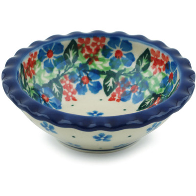 Polish Pottery 3-inch Scalloped Bowl | Boleslawiec Stoneware | Polmedia H1782I