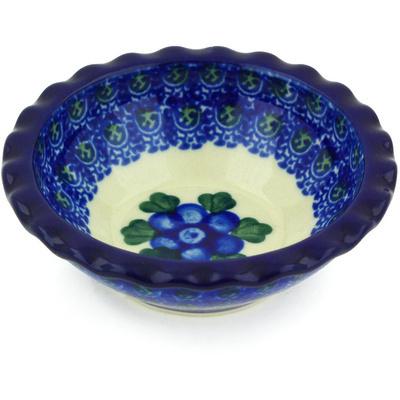 Polish Pottery 3-inch Scalloped Bowl | Boleslawiec Stoneware | Polmedia H5002G