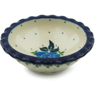 Polish Pottery 3-inch Scalloped Bowl | Boleslawiec Stoneware | Polmedia H1734I