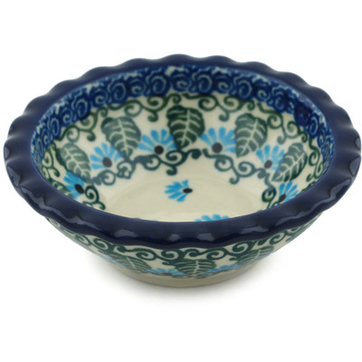 Polish Pottery 3-inch Scalloped Bowl | Boleslawiec Stoneware | Polmedia H0726I
