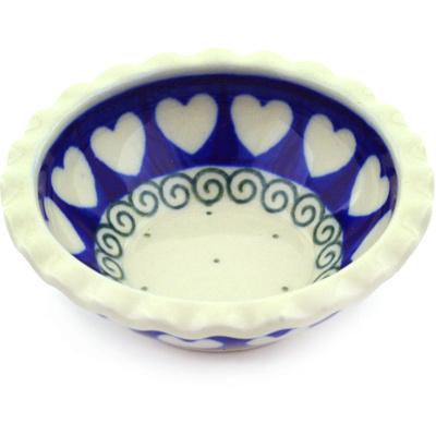 Polish Pottery 3-inch Scalloped Bowl | Boleslawiec Stoneware | Polmedia H0146F