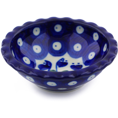Polish Pottery 3-inch Scalloped Bowl | Boleslawiec Stoneware | Polmedia H7582B