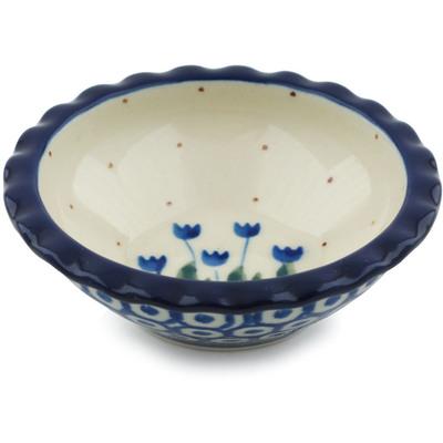 Polish Pottery 3-inch Scalloped Bowl | Boleslawiec Stoneware | Polmedia H1747I