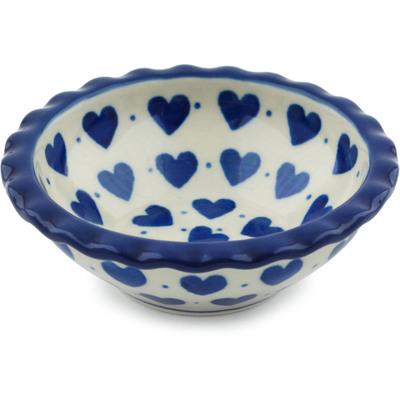 Polish Pottery 3-inch Scalloped Bowl | Boleslawiec Stoneware | Polmedia H1760I