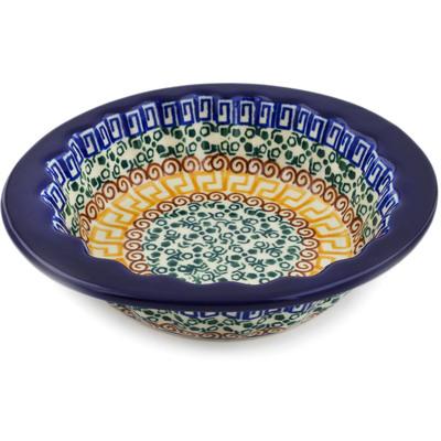 Polish Pottery 6-inch Scalloped Bowl | Boleslawiec Stoneware | Polmedia H1854D