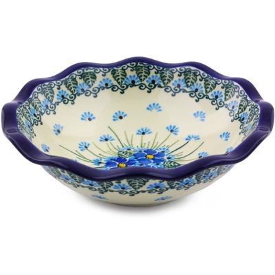 Polish Pottery 7-inch Scalloped Bowl | Boleslawiec Stoneware | Polmedia H0845I
