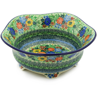 Polish Pottery 10-inch Scalloped Bowl | Boleslawiec Stoneware | Polmedia H3797F