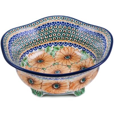 Polish Pottery 10-inch Scalloped Bowl | Boleslawiec Stoneware | Polmedia H1946H