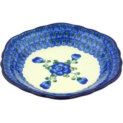 Polish Pottery 7-inch Scalloped Bowl | Boleslawiec Stoneware | Polmedia H5720G