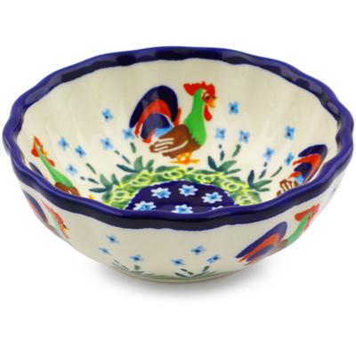Polish Pottery 5-inch Scalloped Bowl | Boleslawiec Stoneware | Polmedia H8092I