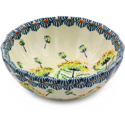 Polish Pottery 5-inch Scalloped Bowl | Boleslawiec Stoneware | Polmedia H8095I
