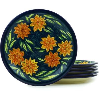 Polish Pottery 11-inch Set of 6 Plates | Boleslawiec Stoneware | Polmedia H7719H