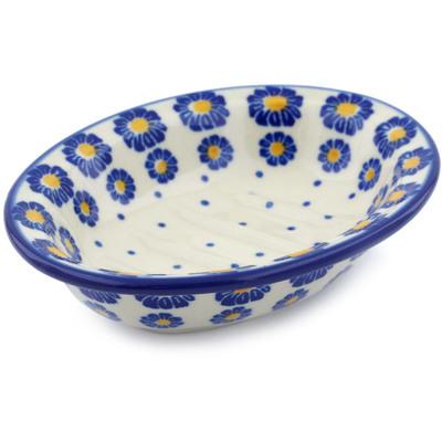 Polish Pottery 5-inch Soap Dish | Boleslawiec Stoneware | Polmedia H0442J
