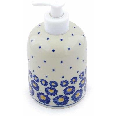 Polish Pottery 5-inch Soap Dispenser | Boleslawiec Stoneware | Polmedia H0503J
