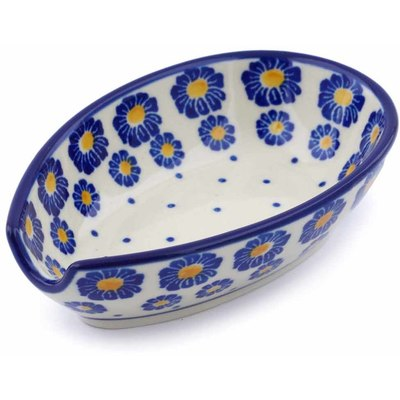 Polish Pottery 5-inch Spoon Rest | Boleslawiec Stoneware | Polmedia H0316J