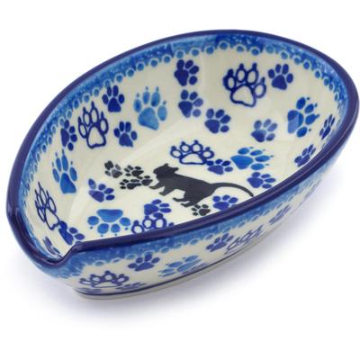 Polish Pottery 5-inch Spoon Rest | Boleslawiec Stoneware | Polmedia H5649I