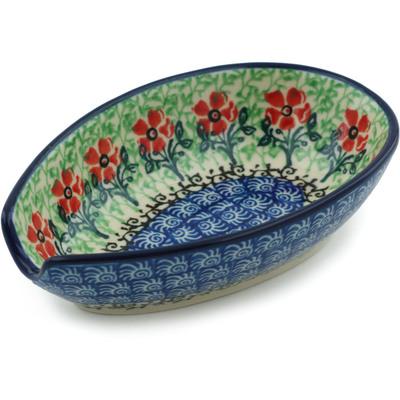 Polish Pottery 5-inch Spoon Rest | Boleslawiec Stoneware | Polmedia H9021H