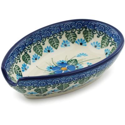 Polish Pottery 5-inch Spoon Rest | Boleslawiec Stoneware | Polmedia H0744I