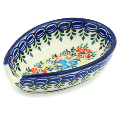 Polish Pottery 5-inch Spoon Rest | Boleslawiec Stoneware | Polmedia H3854H