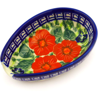 Polish Pottery 5-inch Spoon Rest | Boleslawiec Stoneware | Polmedia H7549F