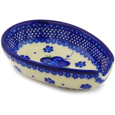 Polish Pottery 5-inch Spoon Rest   Boleslawiec Stoneware   Polmedia H1362F