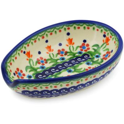 Polish Pottery 5-inch Spoon Rest | Boleslawiec Stoneware | Polmedia H3824E