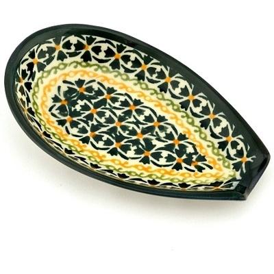 Polish Pottery 5-inch Spoon Rest | Boleslawiec Stoneware | Polmedia H0250A