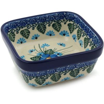 Polish Pottery 4-inch Square Bowl | Boleslawiec Stoneware | Polmedia H0770I
