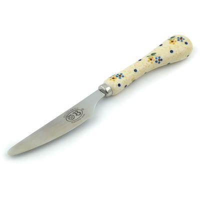 Polish Pottery 8-inch Stainless Steel Knife | Boleslawiec Stoneware | Polmedia H4475I